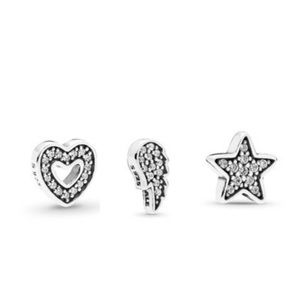 3 Authentic Pandora Petite Charms